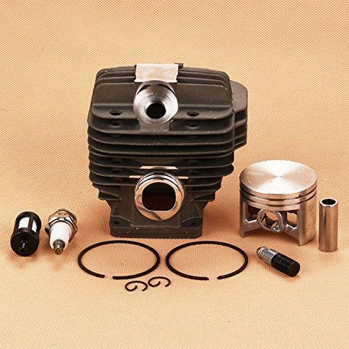Kit de pistón de cilindro para bujía, filtro de bujía, compatible con Calm Stihl 044 MS440 MS 440 Reemplaza 1128-020-1201 Motosierra