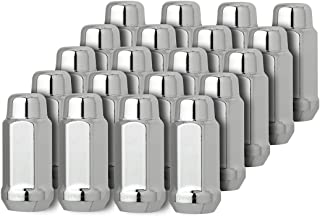 DPAccessories D3312-2305/20 20 Chrome 1/2-20 Closed End XL Bulge Acorn Lug Nuts - Cone Seat - 3/4