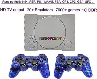 H/L Consola De Juegos Retro Vídeo, Súper Simulador Doble HD TV Máquina De Juego Built-In 20 Emuladores como MAME N64 PS1 PSP GBA SFC NES GB Etc [Clase Energética A]