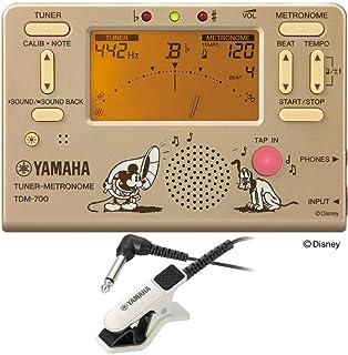 YAMAHA TDM-700DMK チューナー メトロノーム TM-30WH チューナー専用マイクロフォン付き 2点セット