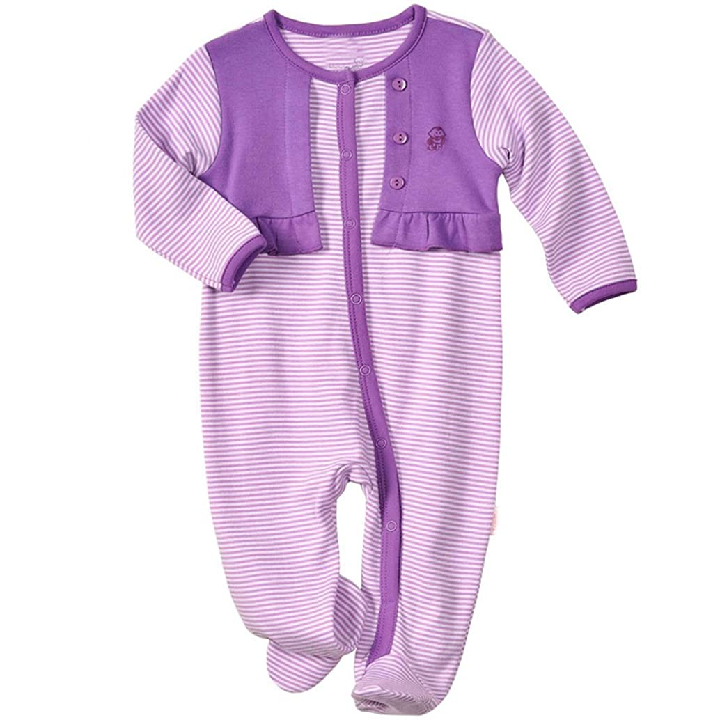 LJ Baby-Girls Newborn Footed Sleep & Play