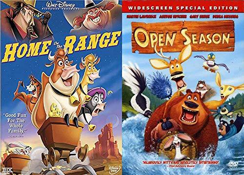 Animated Animal Hijinks: Disney's Home On The Range + Open Season Double Feature DVD Rip-Roaring fun Pack