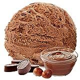 Praline Nougat Geschmack 1 Kg Gino Gelati Eispulver Softeispulver für