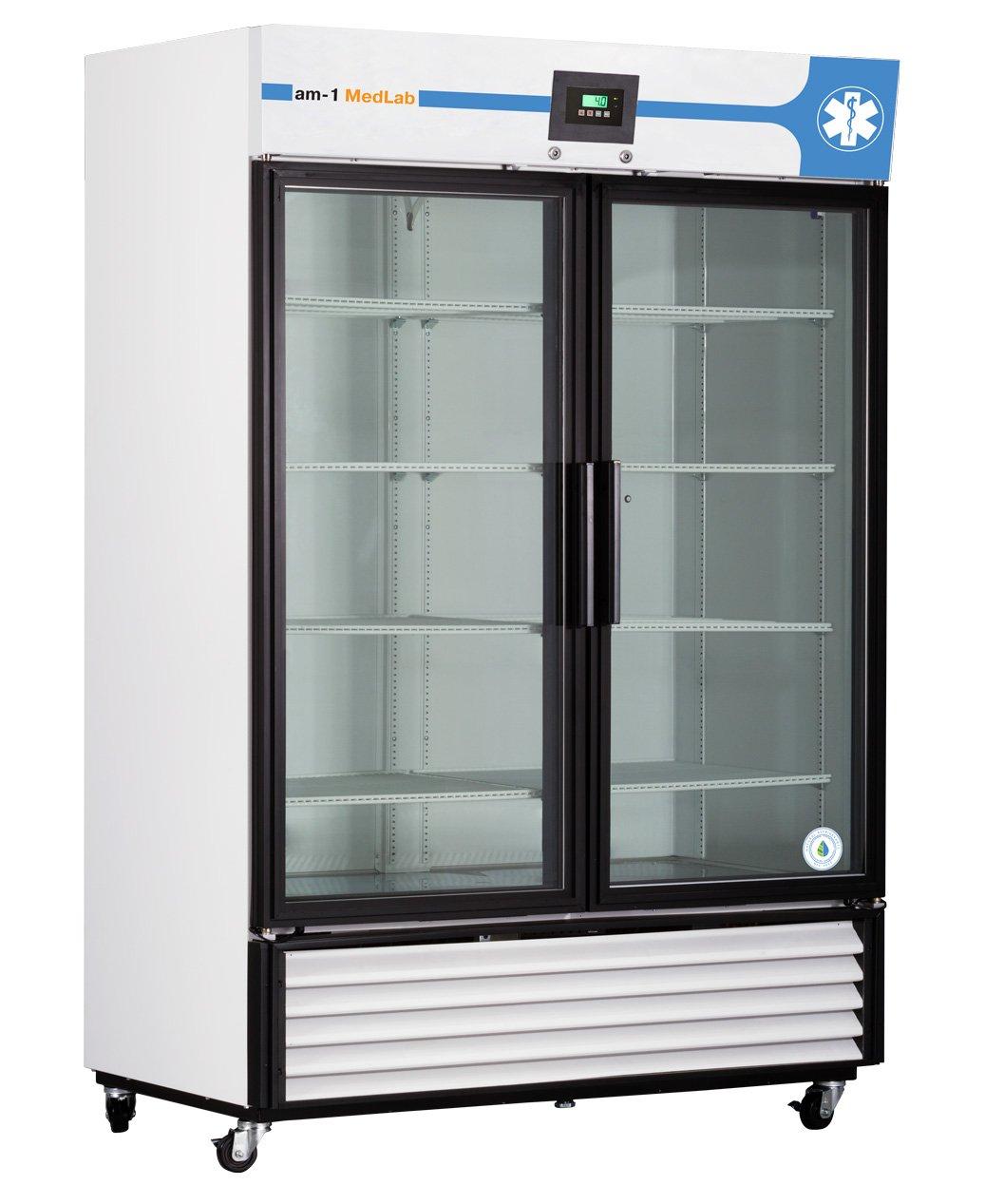 White ft Medical//Laboratory Refrigerator am-1 AM-LAB-1D-RSP-23 MedLab Premium Solid Door 23 cu