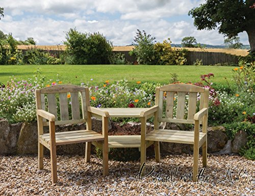 Parcel in the Attic Solid Wood Outdoor Furniture Garden Dining Set Table Chairs Companion Seat Bench (Companion Seat) - 10 Year warranty against rot