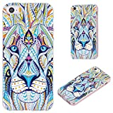 iPhone SE Case,iPhone 5S Case,iPhone 5 Case,VoMotec Anti-Scratch Slim Flexible Soft TPU Protective Skin Cover Case for Apple iPhone 5/5S/ SE 2016 4.0 Inch,Totem Tattoo Head of The Lion Animal