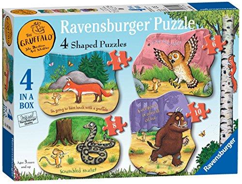 Ravensburger The Gruffalo-Rompecabezas (4, 6, 8, 10 Piezas) para niños a Partir de 3 años (6980)