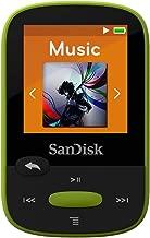SanDisk 8GB Clip Sport MP3 Player, Lime - LCD Screen and FM Radio - SDMX24-008G-G46L (Renewed)