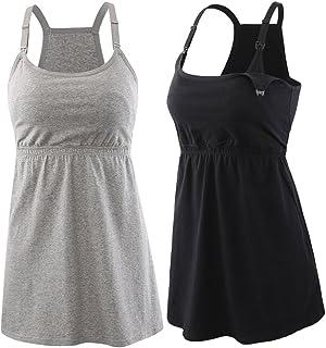 Sponsored Ad - Topwhere Pregnancy Breastfeeding Shirt, Maternity Nursing Top Sleep Cami Women Basic Vest