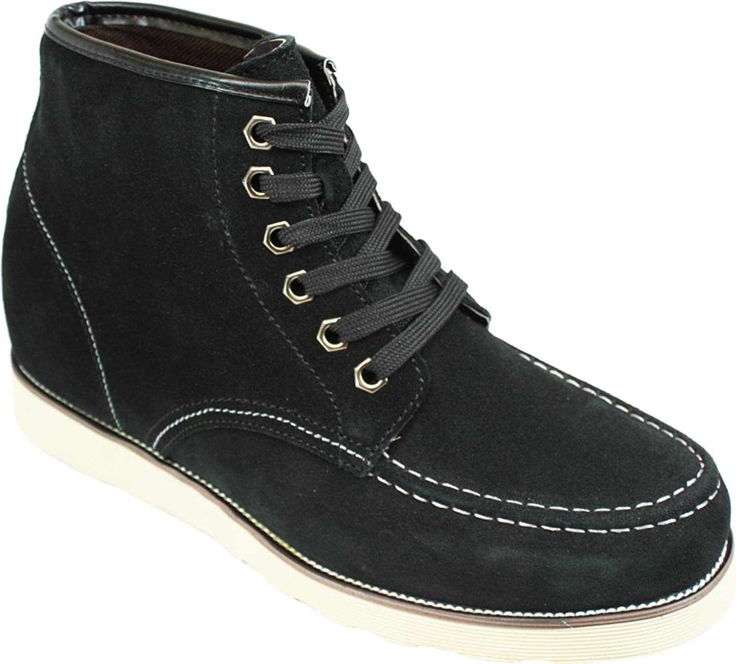 CALDEN - K228063-3 Inches Taller - Height Increasing Elevator shoes-Nubuck Black Lace-up