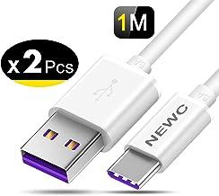 NEW'C Lot de 2 Câble USB Type C à USB 3.0 5A, Câble USB C pour Samsung Galaxy S8/S8 Plus,S9/S9 Plus, Huawei, Xiaomi, Honor, Nokia, OnePlus, Chargeur Cable USB C Rapide 1M