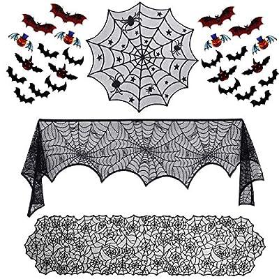 SIBOSUN 27 Pieces Halloween Decorations Set- Sp...