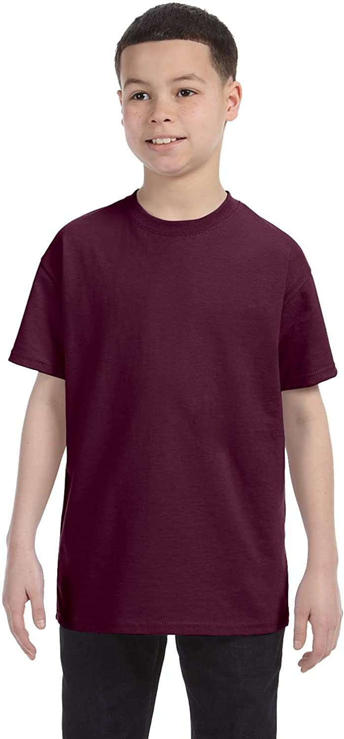 By Hanes Youth 61 Oz Tagless T-Shirt - Maroon - L - (Style # 54500 - Original Label)