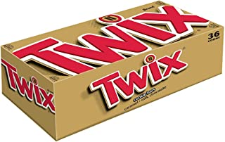 Twix Full Size Caramel Chocolate Cookie Candy Bar, 1.79 Oz, 36-Count Box