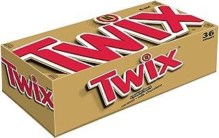 TWIX Caramel Chocolate Cookie Candy Bar Singles, 1.79-Ounce Bar 36-Count Box
