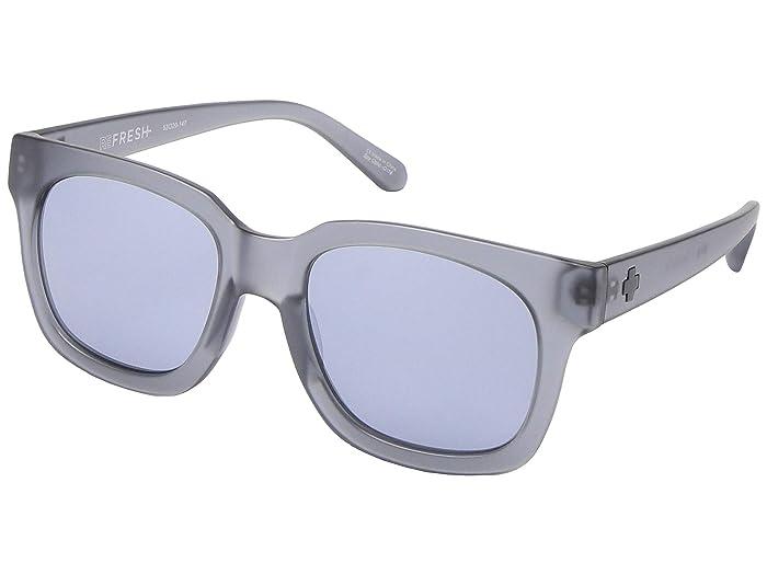 Spy Optic Shandy (Matte Trans Gray/Gray/Silver Mirror) Fashion Sunglasses