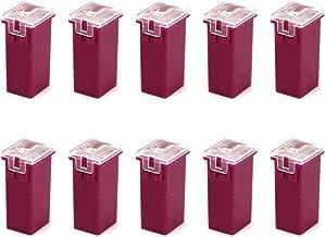 YaFex 10PCS JCase Fuse Tall Standard Fuses 30 Amp Box Shaped Cartridge Fuse Assortment for Cars Trucks Pickups and SUVs