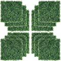"""Yaheetech 12 PCS 20"""" x 20"""" Artificial Boxwood Panels Hedge Decorative Fence Wall Plant for Garden"""
