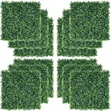 YAHEETECH 12 PCS 20 x 20 inch Artificial Boxwood Panels Hedge Decorative Fence Wall Plant for Garden