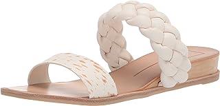 Dolce Vita Women's PERSEY Slide Sandal, FAWN CALF HAIR, 8.5