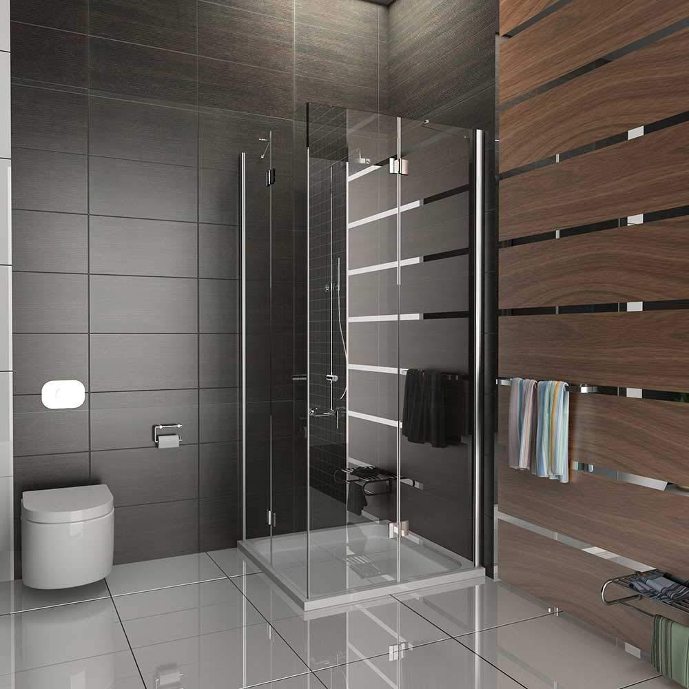 Cabina de ducha 100 x 100 easyclea puertas de Alpes Berger cuadro de entrada por la esquina plegable 100 x 200 cm de ducha cabina de ducha de cristal de seguridad/con accesorios