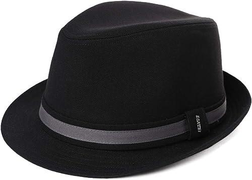 Siggi Trendy Trilby Sombreros Jazz Cap Homburg Gangster Fedora Derby Sombrero de fiesta para hombre 58-60 cm