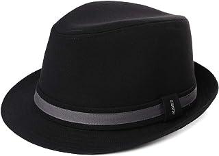 Unisex 1920s Gatsby Homburg Derby Gangster Fedora Manhattan Felt Winter Hat 55-60cm