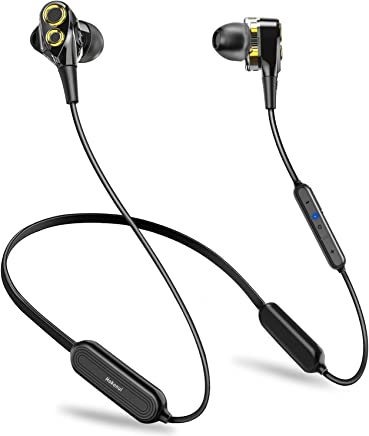 【2019最新版 Bluetooth5.0 16時間連続駆動】HOKONUI イヤホン bluetooth スポーツ 高音質 デュアルドライバー マイク内蔵 低音重視 ノイズキャンセリング 240時間待機 ワイヤレス マグネット搭載 ヘッドホン IPX5防水防汗 ランニング 両耳 自動ペアリング 3Dステレオサウンド ハンズフリー通話 人間工学設計iPhone/iPad/PC/Android対応 (ブラック)