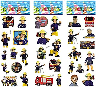 Label Set - 6 Sheets/Set Cartoon Fireman Sam Stickers Scrapbooking for Kids Rooms Home Decor Diary Notebook Label Toy 3D Sticker