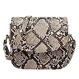 Bandolera de hombro con impresión de serpiente Bolsos de cuero de las mujeres