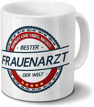 Preisvergleich für Tasse mit Beruf Frauenarzt - Motiv Berufe - Kaffeebecher, Mug, Becher, Kaffeetasse - Farbe Weiß