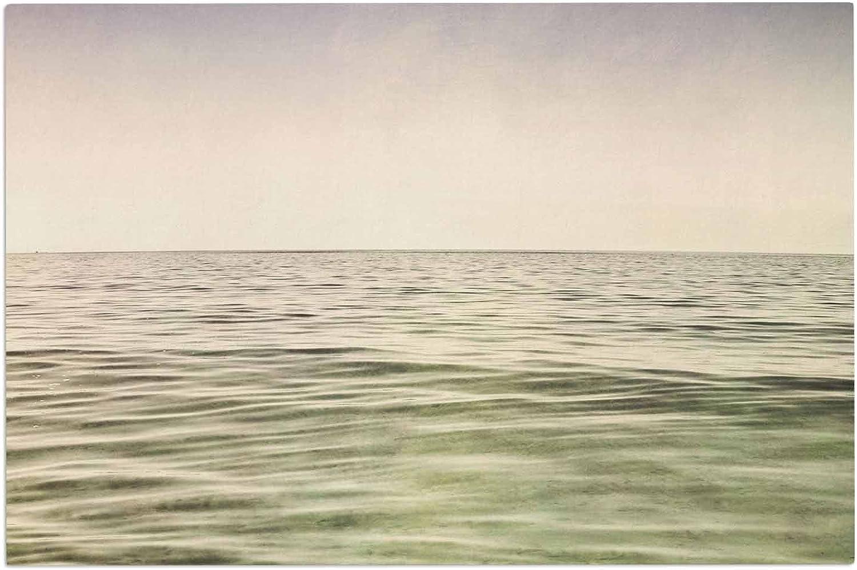 KESS InHouse Iris Lehnhardt Mystic Sea Green bluee Decorative Door, 2' x 3' Floor Mat