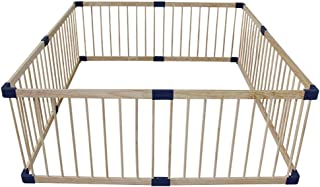 XHJYWL Playpen Baby Wood Frame  Large Safety Play Fence for Pet  amp  Child  Easy  amp  Quick Assembly  61cm Tall  Size 160x160cm