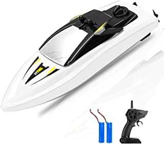 RC Boat Remote Control Boats for Pools and Lakes, ROTOBAND 2.4GHz 14km/h Mini RC Ships Boats Watercraft Toys for Kids Adults Boys Girls (White)