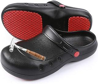 [テノシ] コックシューズ 先芯入り ワークマン 靴 作業靴 サンダル スリッポン 安全靴 EVA素材 軽量 耐油 耐滑 防水 防臭 疲れにくい 衝撃吸収 男女兼用 23.5-28.0cm対応