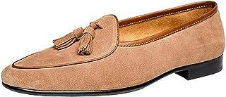 [WEWIN] タッセルローファー メンズ 本革スエード 手作り ビジネスシューズ 革靴 運転靴 スリッポン モカシン おしゃれ ドライビング カジュアル 結婚式 就活 フォーマル 防臭 抗菌 人気 通気 快適 防滑 ブラウン