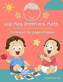 600 Mes Premiers Mots Montessori Jeu D'Apprentissage Français Danois Bebe:..