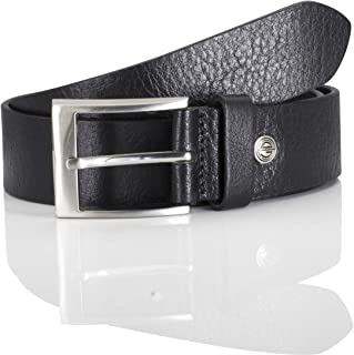 LINDENMANN LM leather belt for men leather belt made of full grain buffalo leather, 40 mm wide and 3,5 mm - 4 mm strong, a...