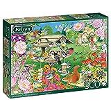 Jumbo 11253 Falcon de Luxe-Summer Garden Birds 500 Piece Jigsaw Puzzle, Multi