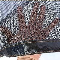 YTYT21 Solar Sombra Paño Negro 55%, Protección contra Rayos UV con Ojales, Material Encriptado, para Jugosas Flores Y Verduras del Balcón del Jardín(1x1m)