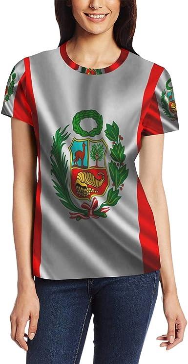 Camiseta de manga corta con diseño de bandera peruana para ...