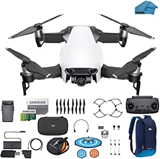 DJI Mavic Air Drone - Quadcopter with 32gb SD Card - 4K Professional Camera Gimbal - Bundle - Kit - with Must Have Accessories (Arctic White)