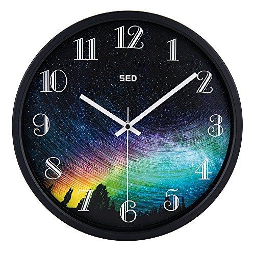 Color Map Black Wall Clock