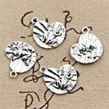 30pcs Charms Frog on Lily pad 18x17mm Antique Making Vintage Tibetan Silver Zinc Alloy Pendant