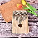 SuoSuo SFFSM Madera Instrumentos Musicales Clave 17 Kalimba Africano sólido Pino Caoba Dedo Pulgar Piano Sanza Mbira Calimba Juego con la Guitarra (Color : A)