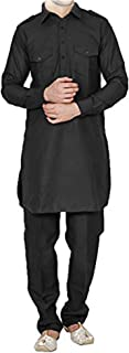 FOCIL Independence Day Special Black Pathani Kurta Salwar for Mens