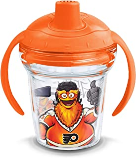 Tervis 1322364 NHL Philadelphia Flyers Gritty Sippy Cup with Wrap and Sunburst Orange Lid, 6oz Tritan, Clear