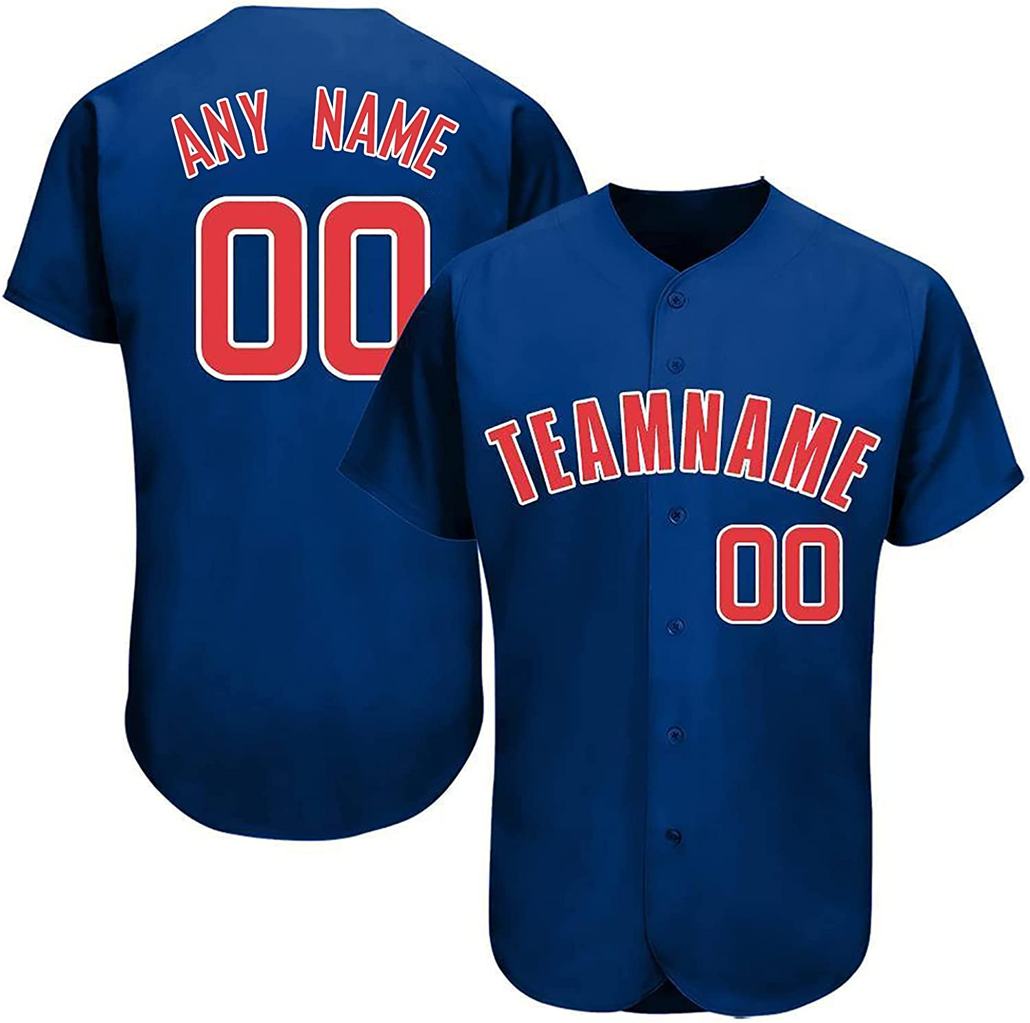 Custom Baseball Jersey Shirt Personalize Your Team Name & Number for Men Women Youth Fans Gift