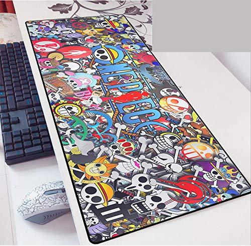 Anime Grande Alfombrilla de Ratón Gaming Mouse Pad Luffy One Piece Gran Teclado extendido tapete de Ratones Monkey 800X300mm Gran tamaño Mousepad for PC de Escritorio del Ordenador-D_700*300 * 3MM