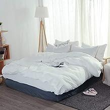 مجموعة أغطية السرير لحاف كامل الملكة حجم لحاف مجموعة كتان الملك حجم القطن المغسول غطاء لحاف مزدوج مع ورقة جاهزة أغطية لحاف...